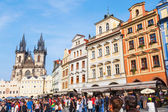 Old Town Square with the Church of our Lady before Tyn in Prague, Czechia — Stock Photo