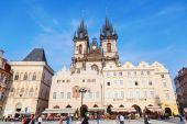 Church of our Lady before Tyn at Old Town Square in Prague, Czechia — Stock Photo