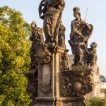 Statue at the Charles Bridge in Prague, Czechia — Stock Photo #63005245