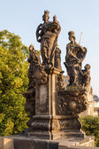 Statue at the Charles Bridge in Prague, Czechia — Stock Photo