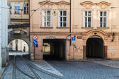 Street view in the lesser town of Prague, Czechia — 图库照片