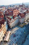 Aerial view of the old town square in Prague, Czechia — Stock Photo