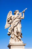 Sculptures at the Ponte Sant Angelo in Rome, Italy — Stock Photo