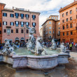 On the square Piazza Navona in Rome, Italy — Stock Photo #63102421
