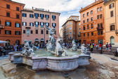 On the square Piazza Navona in Rome, Italy — Stock Photo