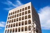 Palazzo della Civilta del Lavoro in Rome, Italy — Φωτογραφία Αρχείου