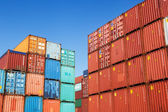 Container in the container port of Hamburg, Germany — Stock Photo
