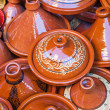 Постер, плакат: Traditional tajine vessels on a market in Marrakech Morocco