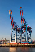 At the Port of Hamburg, Germany — Foto Stock
