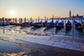 Gôndolas em veneza, itália — Foto Stock