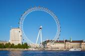 Famous London Eye in London, UK — Stock Photo