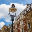 Typical old buildings with an old street lamp in front in Notting Hill, London — Stock Photo #63169889