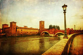 Vintage style picture of Verona, italy — Stock Photo