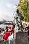 Statue of Bedrich Smetana in Prague, Czechia — 图库照片