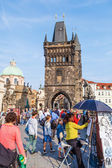 Bridge tower at the Charles Bridge in Prague, Czechia — 图库照片