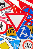 Collage of German traffic signs — Foto de Stock
