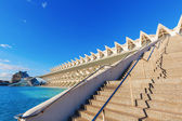 Museum of natural sciences from Santiago Calatrava in Valencia, Spain — Stock Photo