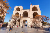 Serrano Gate in the old town of Valencia, Spain — Stock Photo