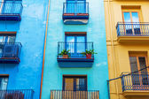 Colorful buildings in Valencia, Spain — Stock Photo