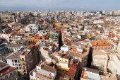 Aerial view of Valencia, Spain — Stock Photo