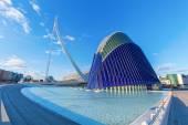City of Arts and Sciences from Santiago Calatrava in Valencia, Spain — Stock Photo