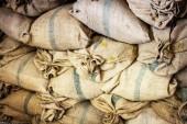 Closed sak bag in barn — Stock Photo
