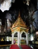 Famous landmark stupa in cave at Petchaburi,Thailand  — Stock Photo