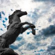 Statues black hourses on sky background — Stock Photo #55412413