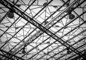 Iron roof frame in interior — Stock Photo