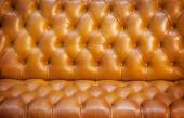 Close up texture of brown leather sofa  — ストック写真