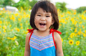 Nice big smile from asian children — Stock Photo