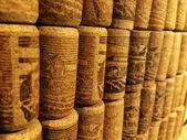 Closeup many different wine corks  — Zdjęcie stockowe