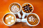 Latte art design in mug — Foto Stock