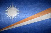 Closeup Screen Marshall island flag concept — Stok fotoğraf