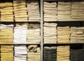 Blur towel in shelf  — Stock Photo