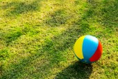 Colour ball on playground — Stock Photo