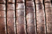 Crocodile leather texture background — Zdjęcie stockowe