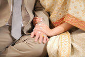 Weding hand with ring — Stock Photo