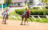 Moving horse racing sport — Stock Photo