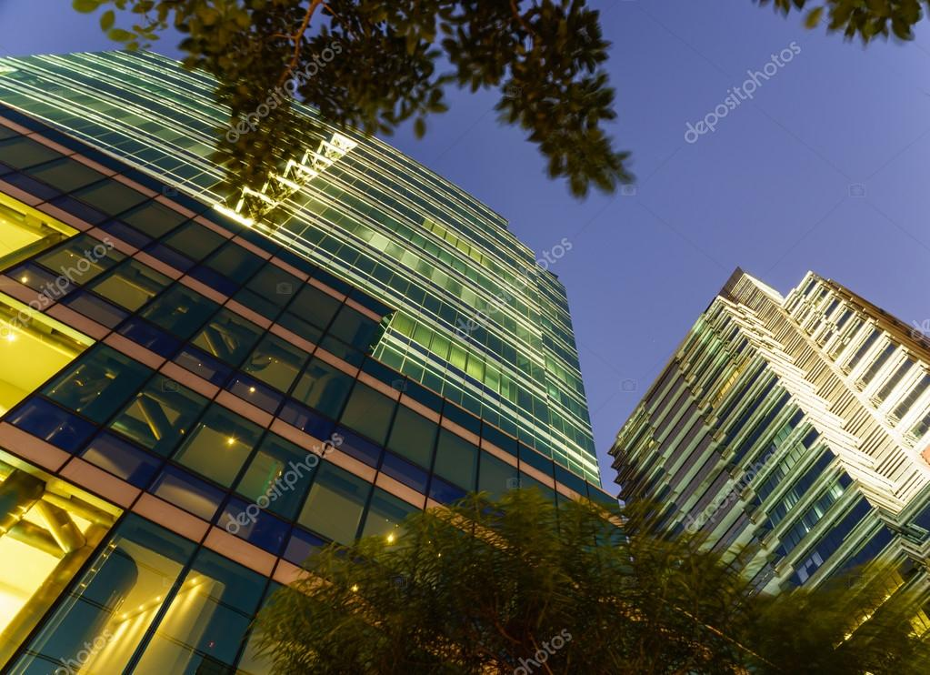 new modern glass office buildings serve several needs of people in big city of bangkok with best security system to offer and privacy to comfortably live big beautiful modern office photo