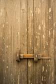 Teak wood traditional door — Stock Photo