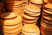 Terra-cotta flower pot saucers — Stock Photo
