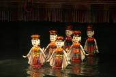Vietnamese water puppetry show — Stock Photo