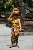 Balinese temple activity — Stock Photo