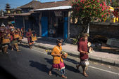 Religious street parade, Bali Island. — Stock Photo