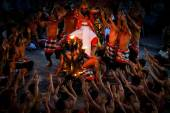 Kecak Fire Dance, Bali Island — Stock Photo