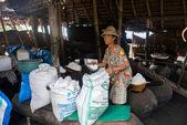 Natural sea salt cottage industry, Bali Island — 图库照片