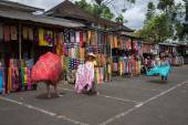 Sarong and batik prints outlets — Stock Photo