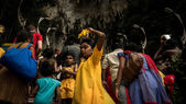 Thaipusam festival in Batu Caves, Kuala Lumpur, Malaysia. — Stockfoto