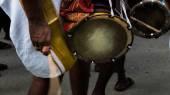 Urumi Melam drums, Hindu festivals — Stock Photo